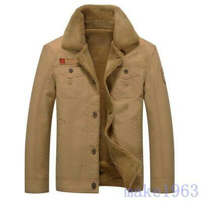 Men's Winter Jacket Youth Casual Cotton Fur Lining Warm Slim Jacket Army Coats