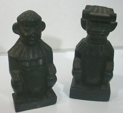 Pair of Ethnic Carved Wooden Figures