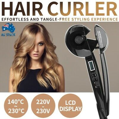 Black LCD Automatic Ceramic Hair Curler Curling Iron Wavy Roller Styling Machine