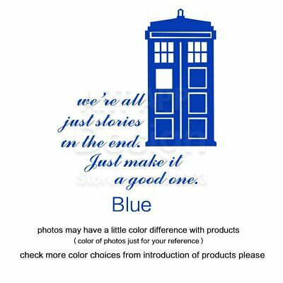 Art design home decoration Dr who cheap vinyl popular Doctor who wall sticker