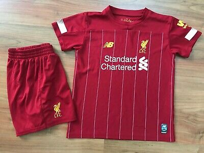 Boys 2019-20 NEW BALANCE LIVERPOOL FC HOME KIT Shirt (age4-5) *GREAT COND*