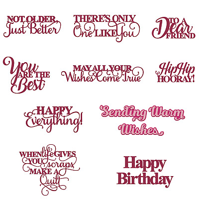 Blessing Words Cutting Dies Stencil Scrapbooking Album Embossing DIY Card Crafts