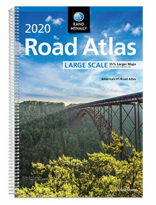 NEW Rand McNally 2020 Large Scale USA Road Atlas  By Rand McNally Free Shipping