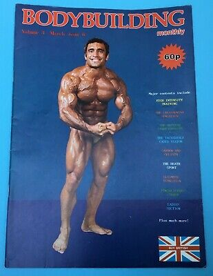BODYBUILDING MONTHLY - March 1980 - Ahmet Enulu  cover -  Roy Duval back cover