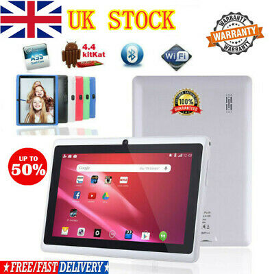 7 Inch Android Tablet 4GB Quad Core Dual Camera Bluetooth Wifi Tablet KID UK TOP