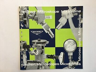 Catalogue de microscope microtomes Reichert historiques 1968 catalogue Katalog