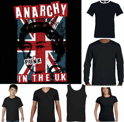 Anarchy in the UK Mens Punk Rock T-Shirt Union Jack Clash