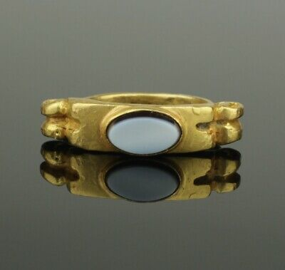 ANCIENT ROMAN GOLD INTAGLIO RING  - 2nd Century AD   (435)