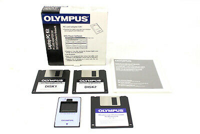 """Olympus Laptop PC Kit Adapter Card CA1 + Dss Player Software 3,5 """" Floppy D-1000"""