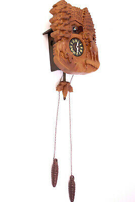 Classy Black Forest Cuckoo Clock with Wall Lodge Pendulum Carved