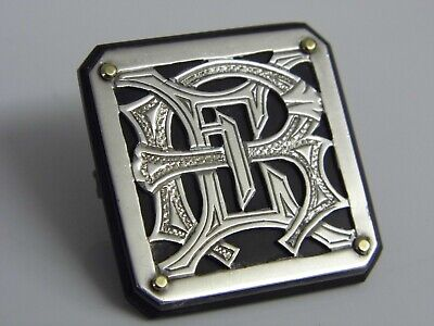 An Exquisite & Unusual Antique Victorian Sterling Silver & Jet Celtic Brooch