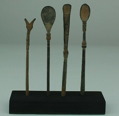 Set Of 4 Ancient Roman Bronze Medical Implements - 2Nd Century Ad