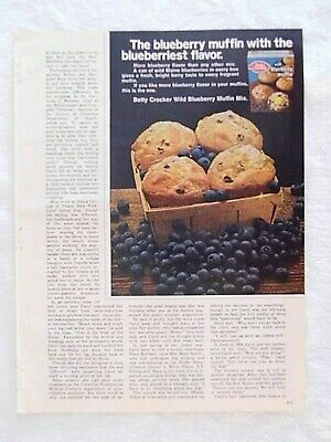 1970 Magazine Advertisement Page Betty Crocker Wild Blueberry Muffin Mix Food Ad