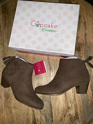 Cupcake Couture Girls Tessa Taupe Brown Suede Tassel Booties Size 4 NIB NEW $45