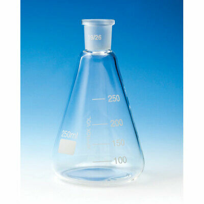 Glassco Conical Jointed Glass Flask 100ml B14 Pack of 10