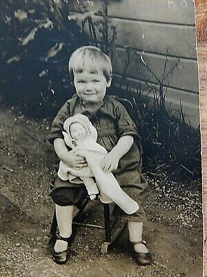Vintage Antique Photo Of Young Girl W/ Doll  WOW  - Estate Find!