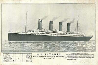 1912 Tichnor Brothers Memorial View of the S.s. Titanic