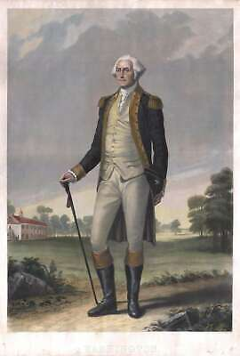 1859 Hicks / Wright Standing Portrait of George Washington