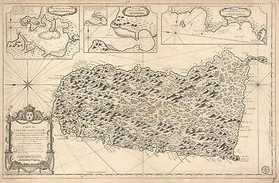 1763 Bellin Map of Saint Lucia