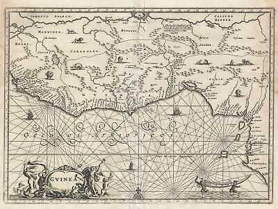 1686 Dapper Map of the Guinea Coast of West Africa