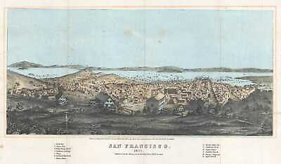 1854 Henry Bill View or Map of San Francisco, California