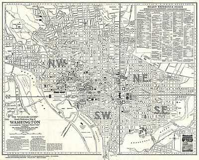 1937 Foster and Reynolds Map or Plan of Washington D.C