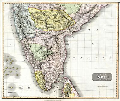 1814 Thomson Map of India