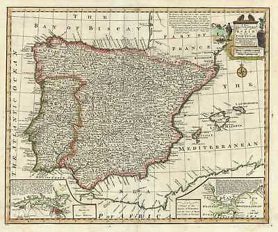 1747 Bowen Map of Spain and Portugal