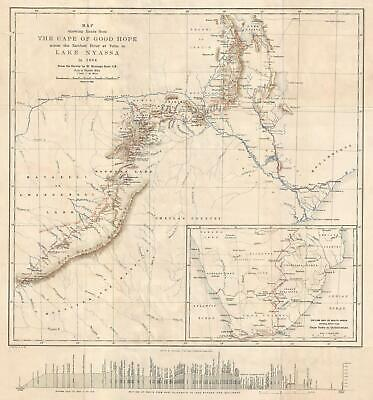 1886 Kerr Map of Southeastern Africa