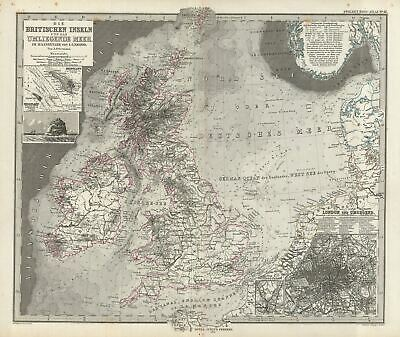 1873 Stieler Map of the British Isles