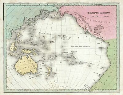 1835 Bradford Map of the Pacific Ocean, Australia and Polynesia
