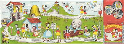 1945 Victor and Bate Fairy Tale Nursery Rhyme Map