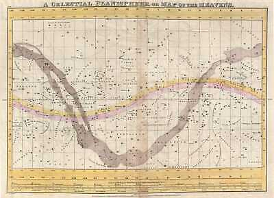 1835 Burritt - Huntington Map of the Heavens or A Celestial Planisphere
