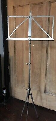 K & M Stainless Steel Music Stand Folding Height Adjustable Made In Germany