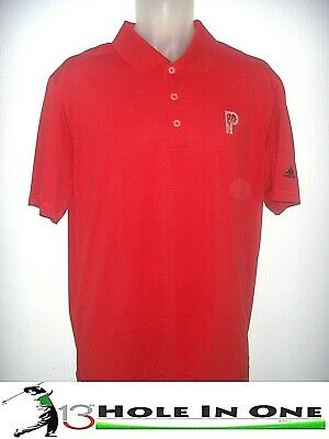 Adidas Puremotion Men's Golf Shirt Short Sleeve Size L Red Nice Polyester