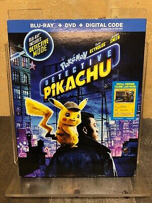 Pokemon Detective Pikachu (Blu-Ray + DVD) with Slipcover + Free Shipping