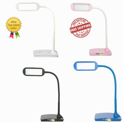 TW Lighting IVY-40WT The IVY LED Desk Lamp with USB Port,3Way Touch Switch