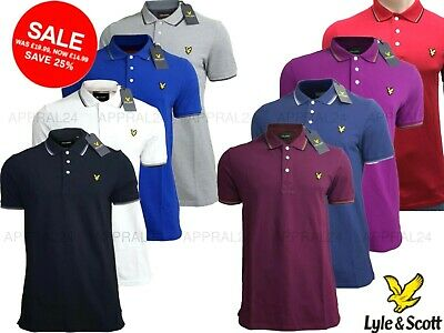 Lyle and Scott Tipped Polo Shirt || Short Sleeve for Men's || 100% Cotton ||
