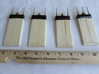 WESTERN ELECTRIC Flat Resistors 4 Different NOS Never Used 1960's