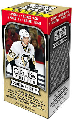 2015-16 O-Pee-Chee OPC Platinum Hockey Blaster Box (6 Packs/Box) New Sealed