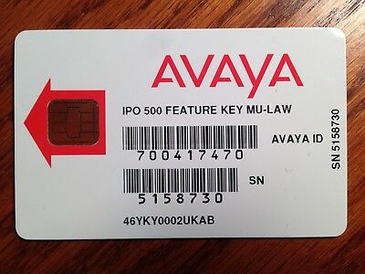 Avaya IP Office 500 feature key card with 4-port voicemail license