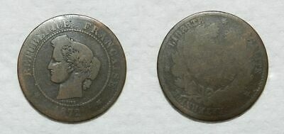 Old French Coin 1872