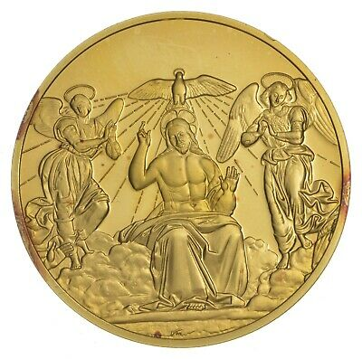 24K Gold Gild The Art Of Raphael .925 Sterling Silver 31.9 Grams Round *678
