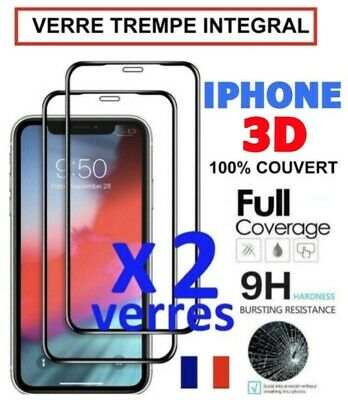 Verre Trempe Iphone Vitre Protection Ecran Integral 11 Pro Max 7 8 Plus X Xr Xs