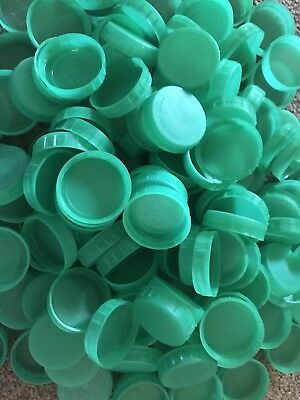 500 Green Plastic Milk Bottle Tops Lids for arts and crafts projects