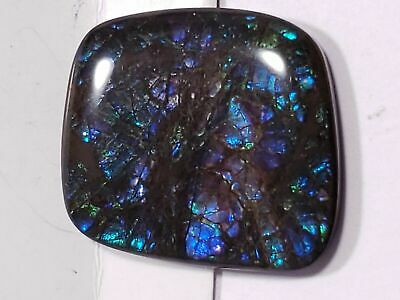 "Ammolite ""Canada's Opal"" Free Form Blue & Green Stained-Glass Loose Gemstone"