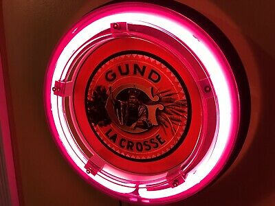 ***Gund Lacrosse Beer Bar Advertising Man Cave Neon Wall Sign