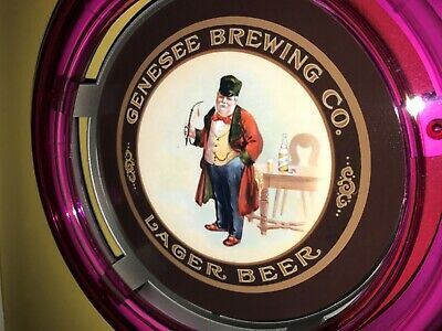 ***Genesee Brewing CO. Beer Bar Advertising Man Cave Neon Wall Sign