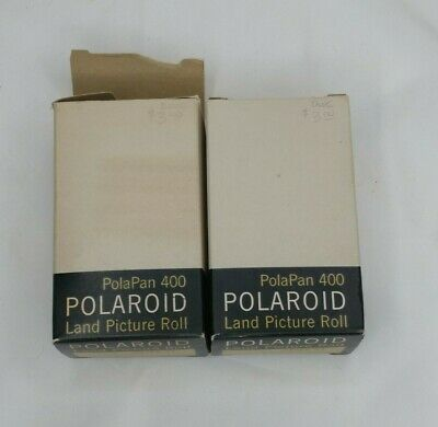 2 Polaroid PolaPan 400 Land Picture Film Rolls 8 B&W Type 44 Sealed Exp Mar 1963