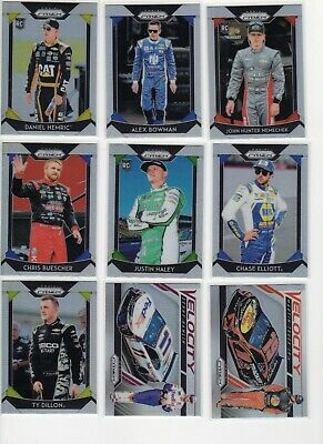 2019 Panini Prizm Racing Silver Refractor You Pick Complete Your Set Inserts SP